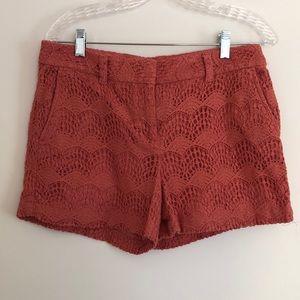 Lace 4 inch shorts, Ann Taylor Loft, Size 6